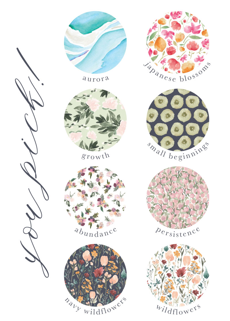 2018 Spring Stationery and Print Collection Patterns by Jitneys