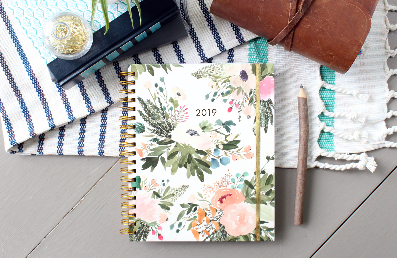 2019 Agenda // Weekly Monthly Annual Floral Planner Calendar via Jitneys