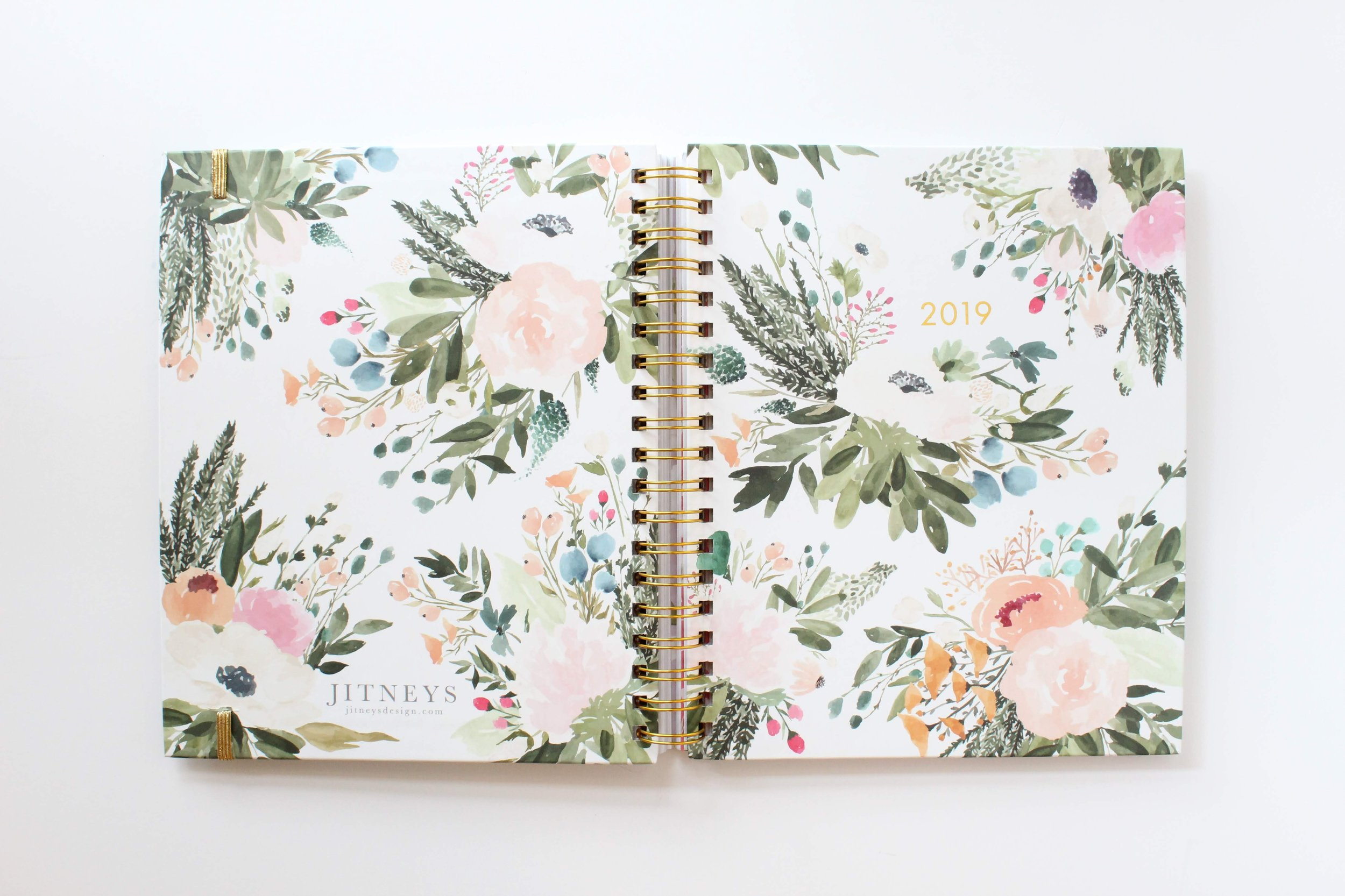 2019 Agenda Floral Planner Cover by Jitneys