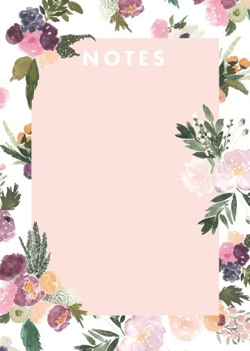Notes: Abundance Peeking Florals