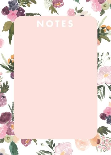 Notes: Abundance Rounded Corners