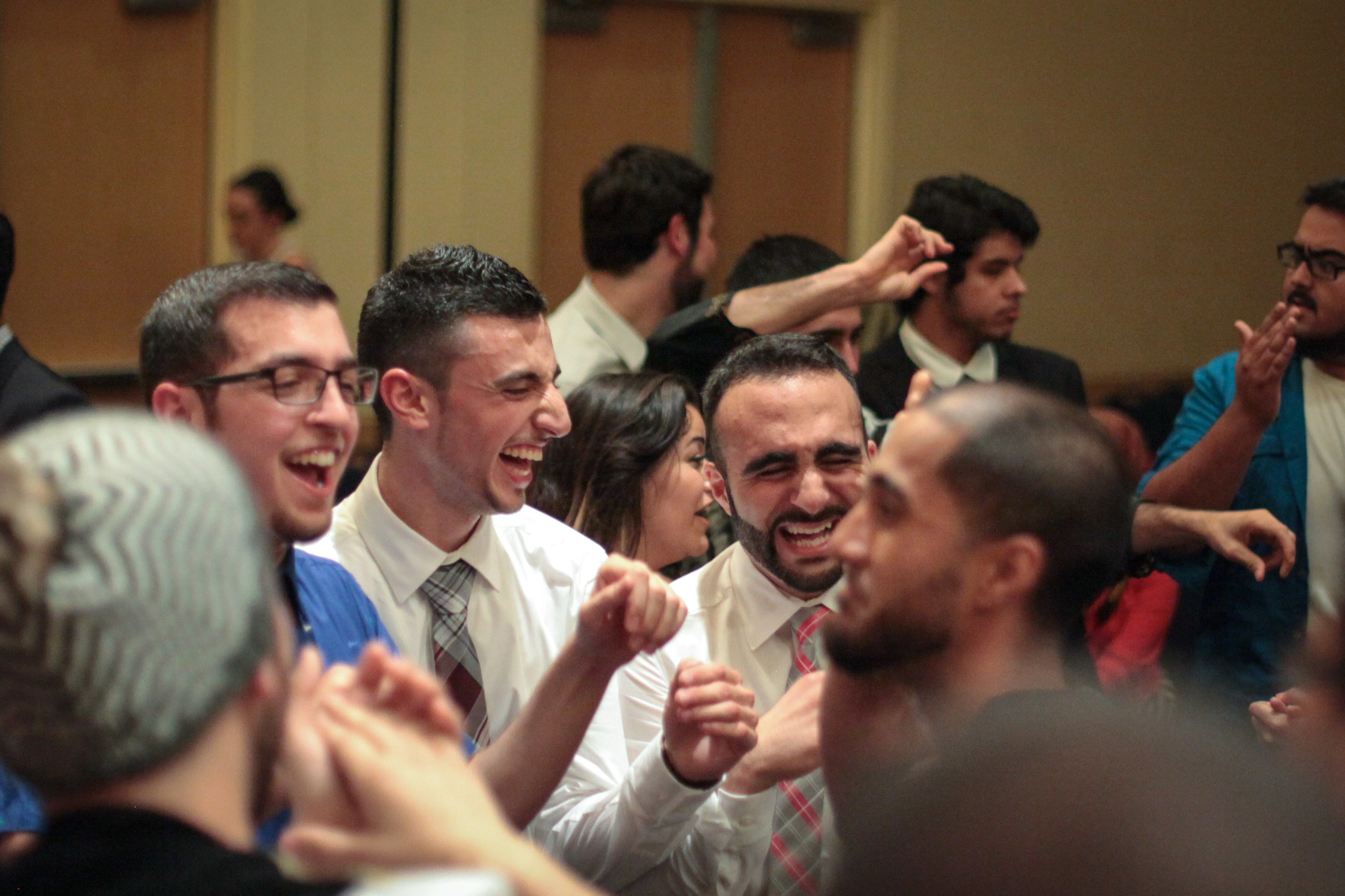 Mahmoud and Sohail dancing at the ASU banquet |  Davis, CA