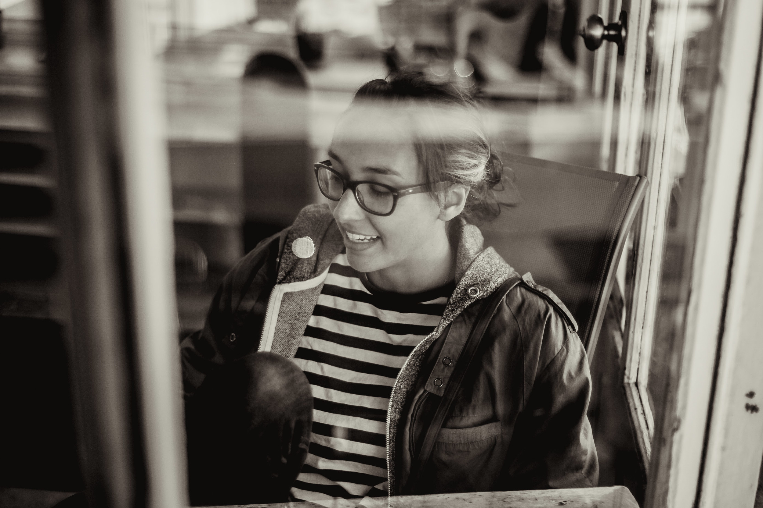 Joelle through the window | Daly City, CA