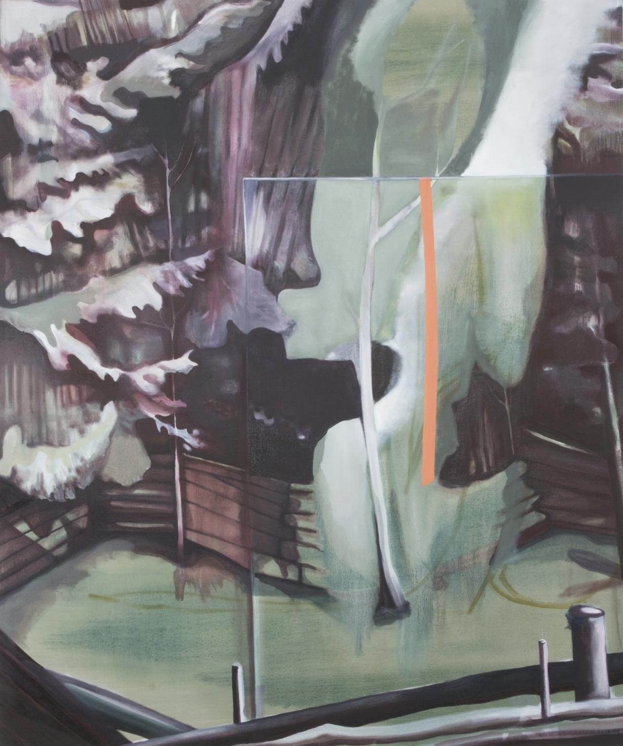 barricade <br> oil on canvas <br> 48 x 72