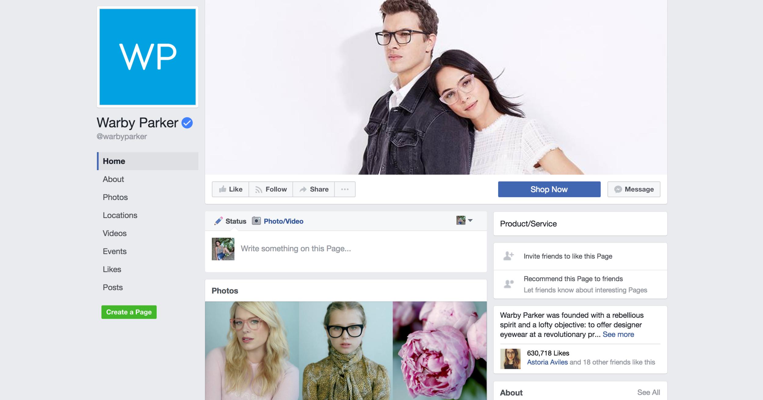 Warby Parker on Facebook /WarbyParker
