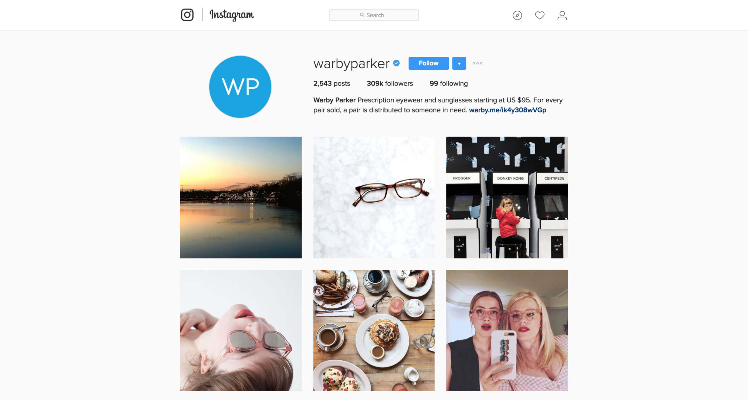 Warby Parker on Instagram @WarbyParker