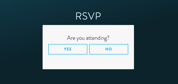 Online RSVP for Events - Decline Attendance