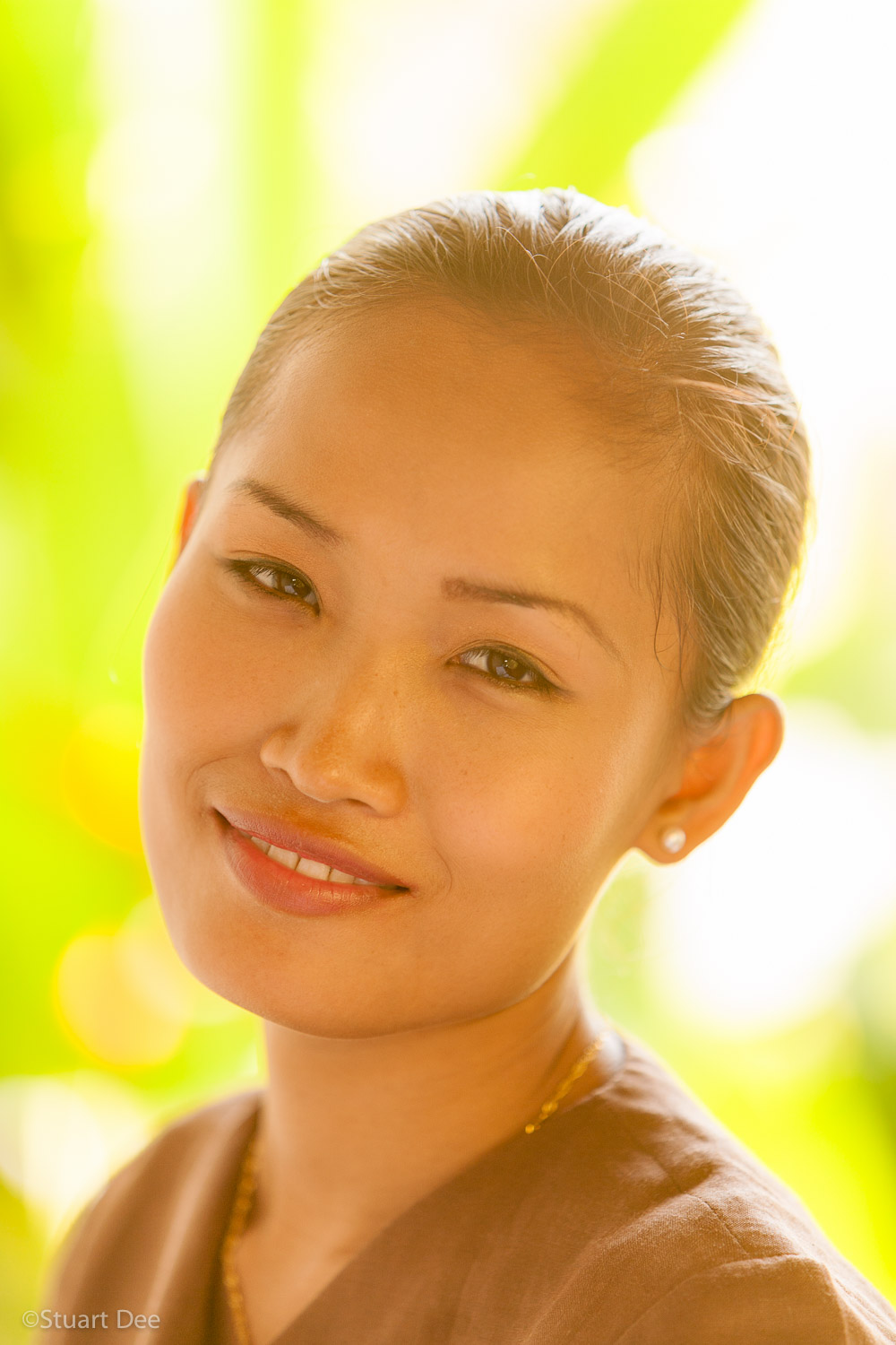 Portrait of young Thai woman, Thaliand
