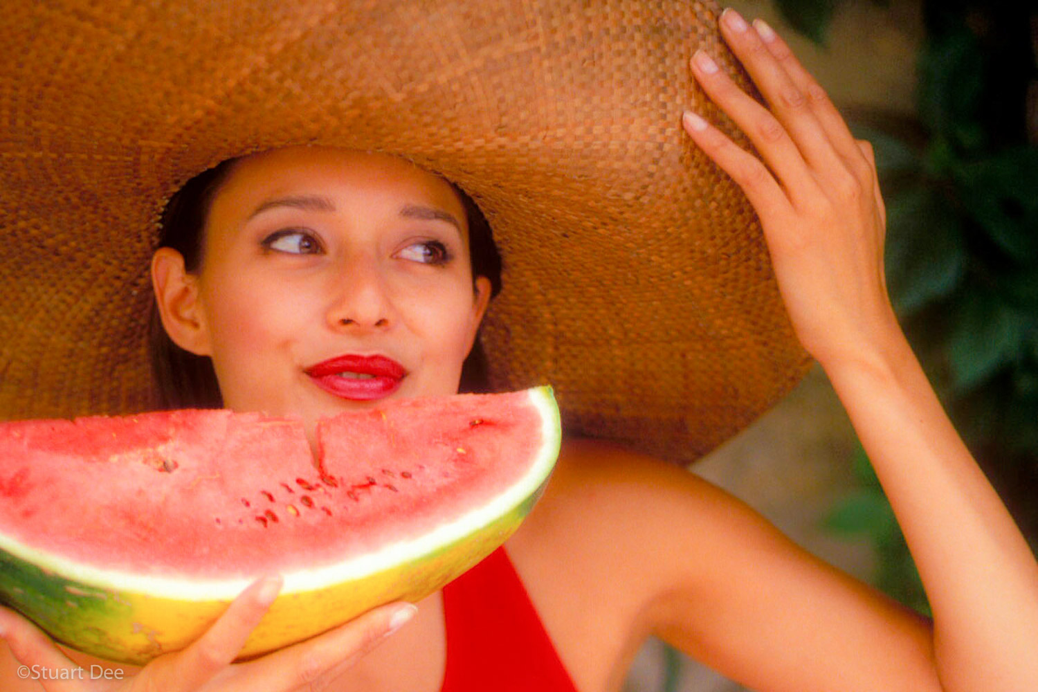 Woman/Watermelon, Provence, France