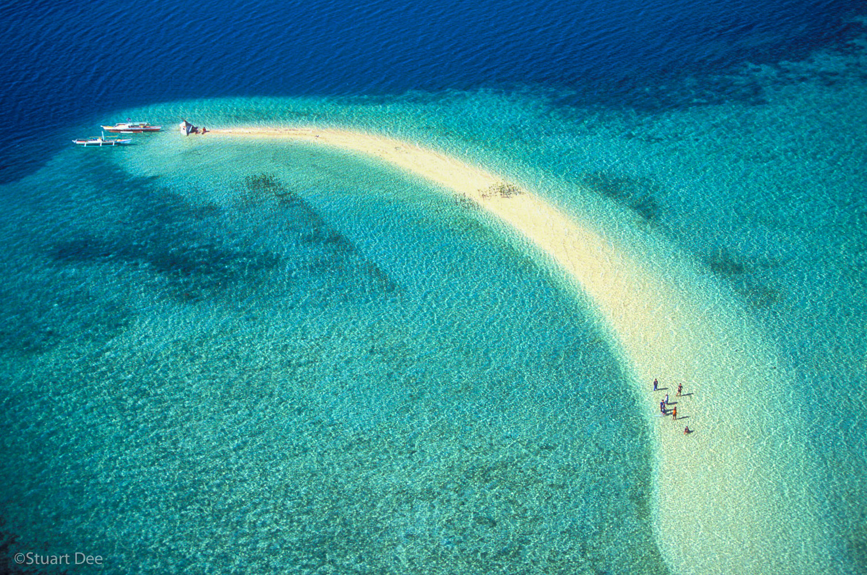 Outing On Sandbar, Macalingaw Island, Bohol, Philippines