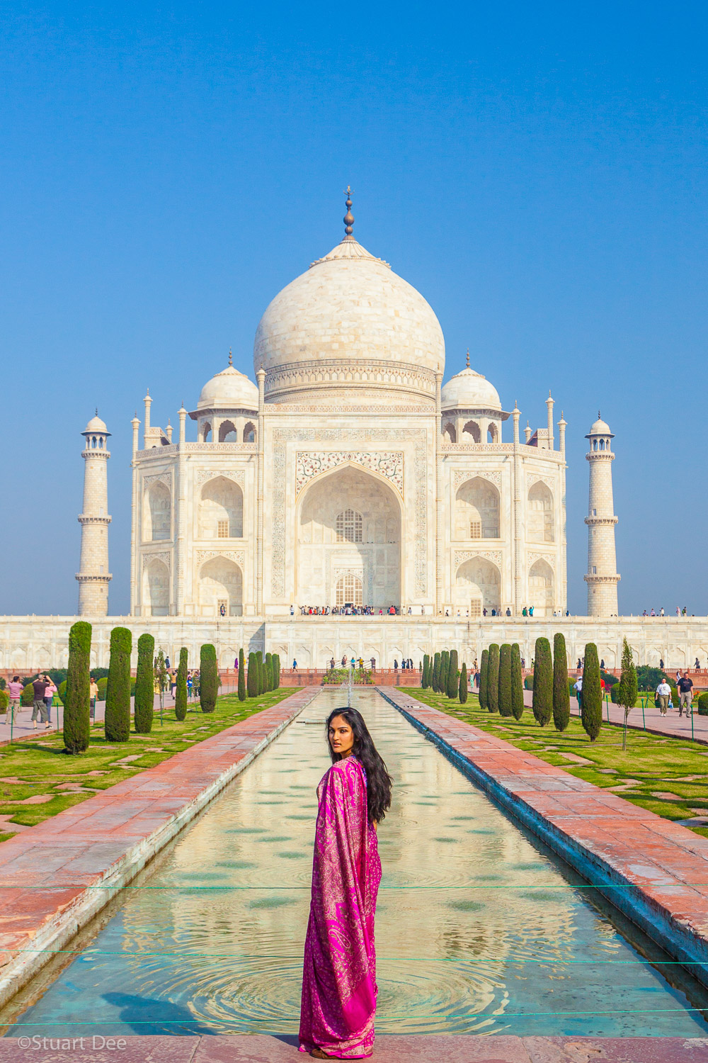 Taj Mahal, Agra, Uttar Pradesh, India. The Taj Mahal is the most recognized symbol of India.