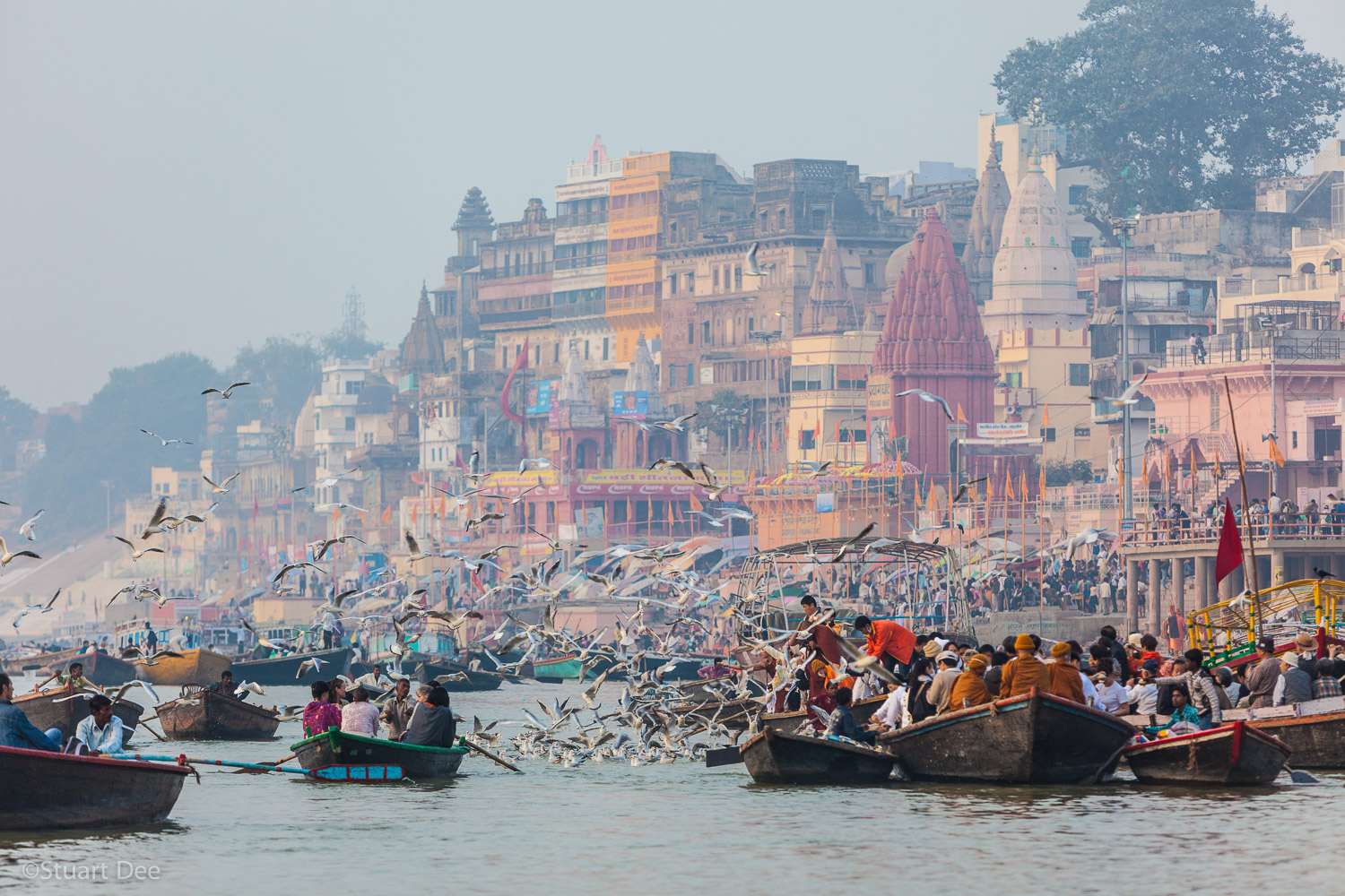 Early morning at the Ganges, Varanasi, Uttar Pradesh, India
