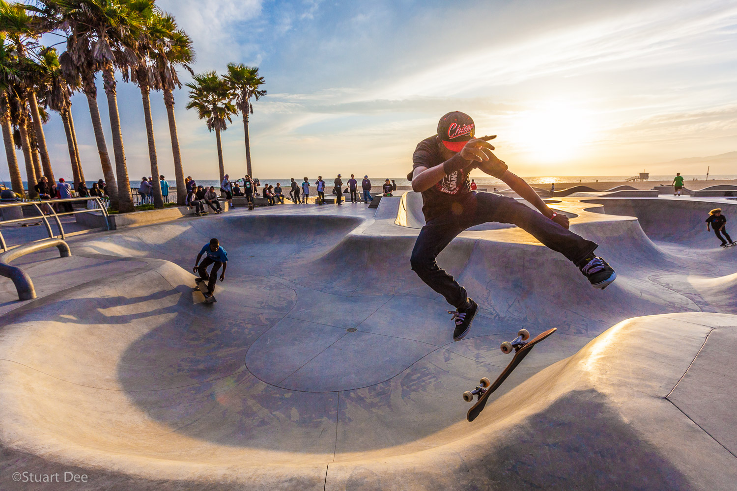 Skateboarders, Venice Beach, Los Angeles, California, USA