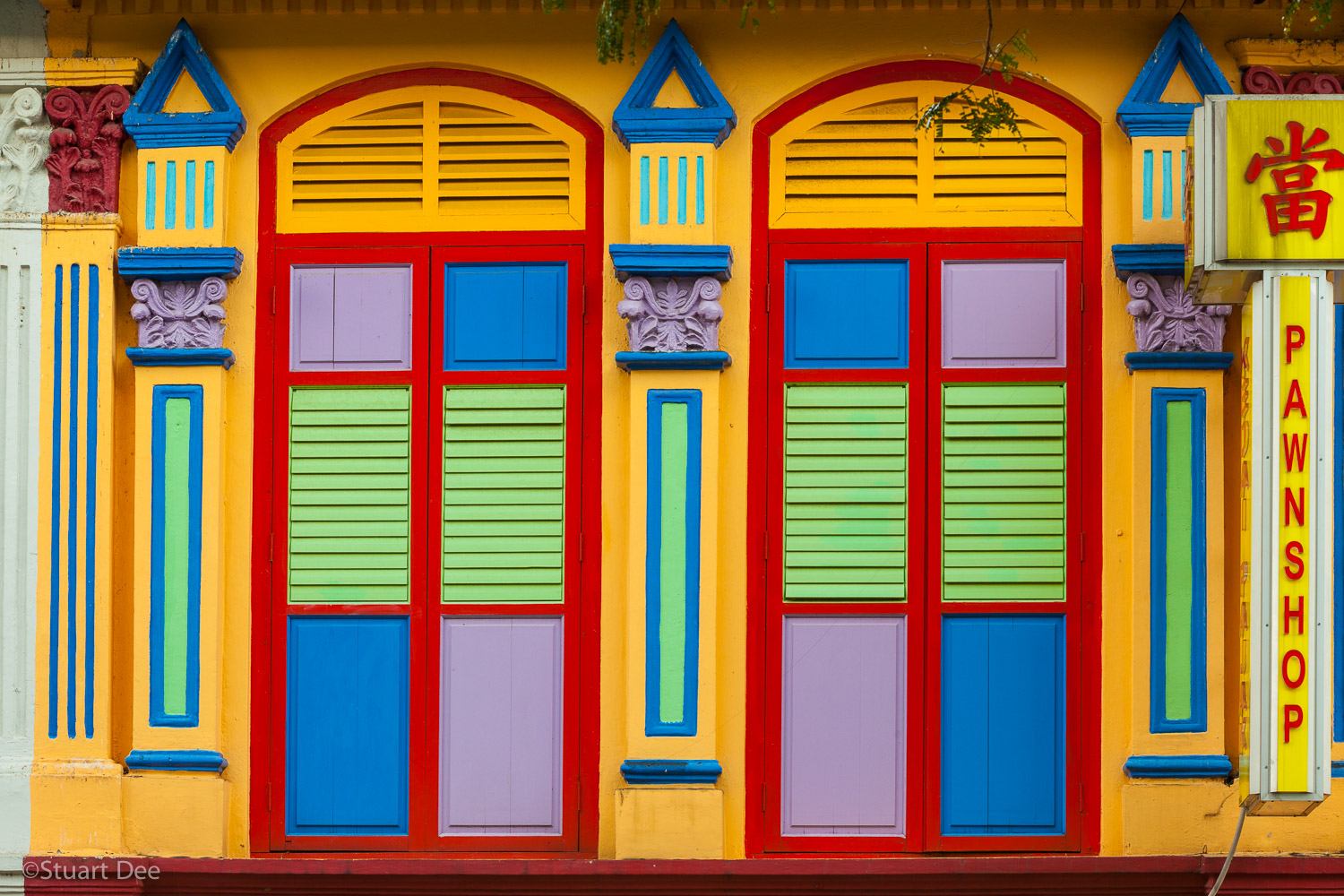 Colorful facade, Little India, Singapore