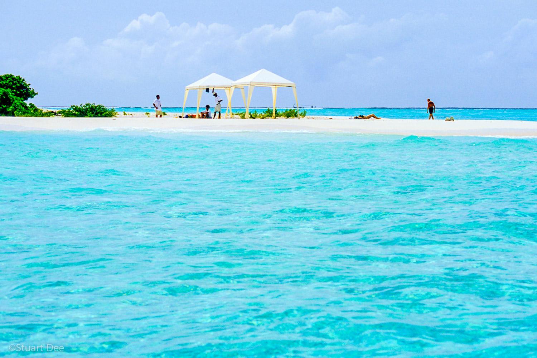 Tents on island, Maldives