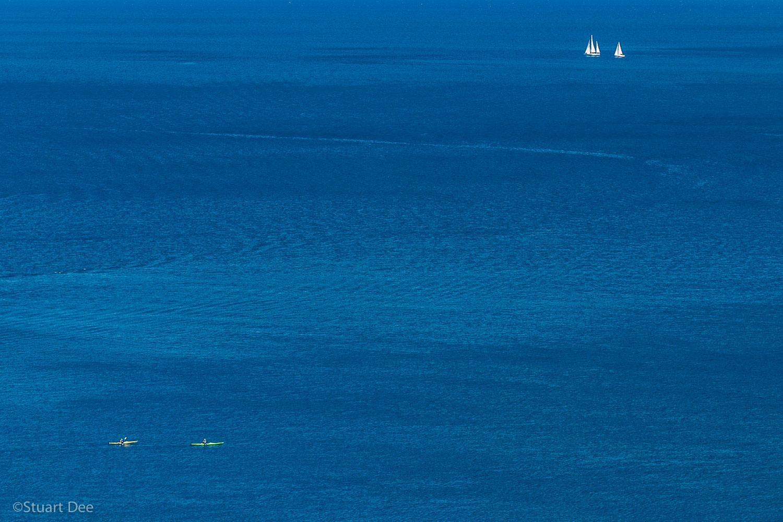 Kayakers, Lake Tahoe, California, USA