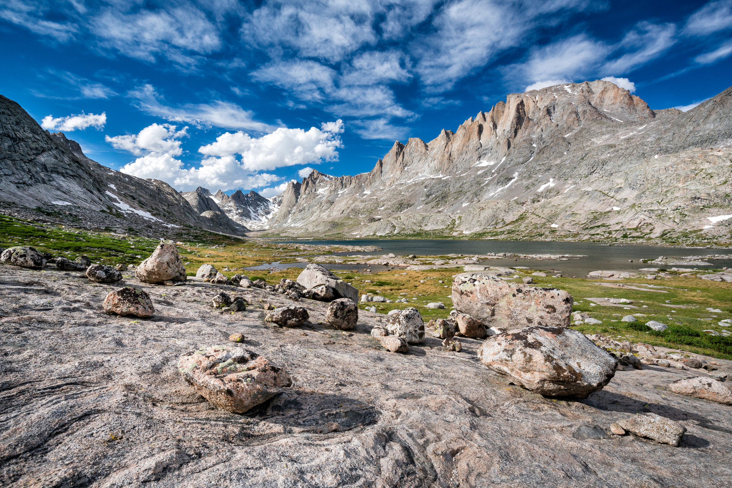 Landscape: Titcomb Basin in the Wind River Range in summer, Wyoming