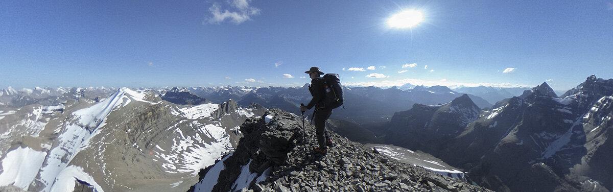 On the summit of South Totem Peak, Banff National Park, Alberta