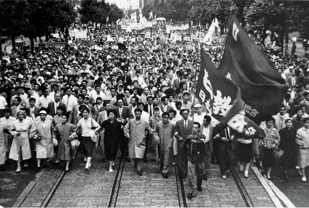 Record of Rage and Grief: Protest photos by Hamada Hiroshi.  More here .