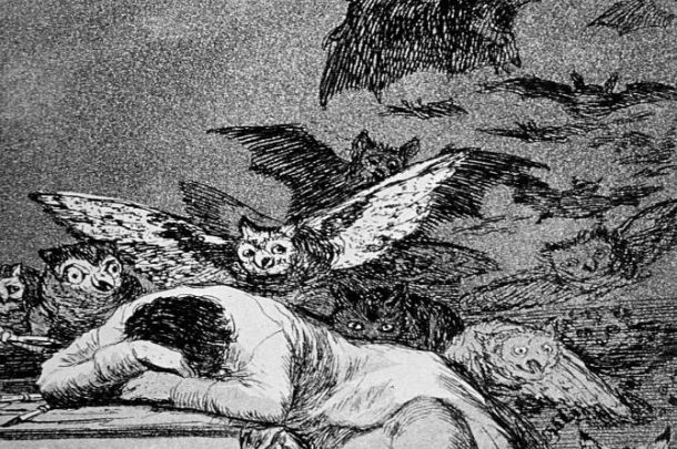 """The Sleep of Reason Produces Monsters,"" from Goya's  Los Caprichos  (1799)"