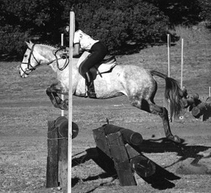 Diana Disney on Anisette competing at Wild Horse Valley Ranch in Napa, CA