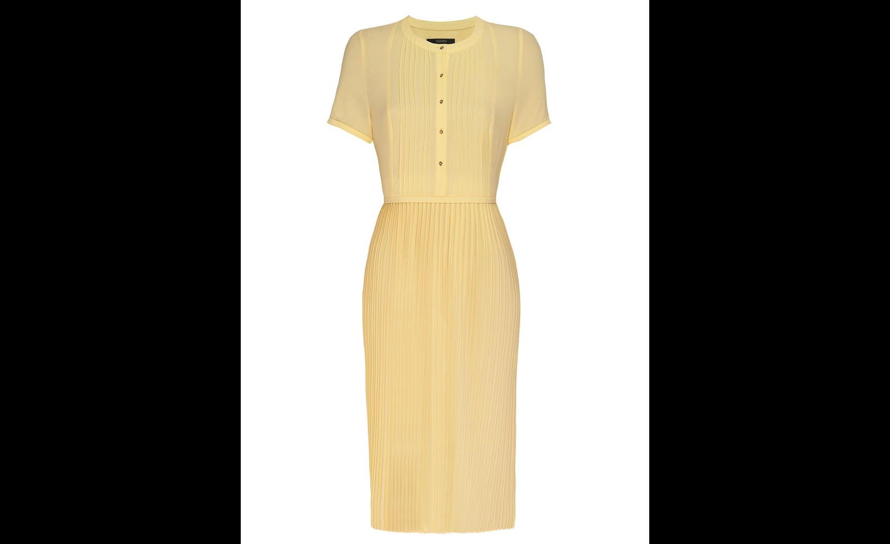 House of Fraser, Yanny, Pintuck Tee Sleeve Pleated Dress £120
