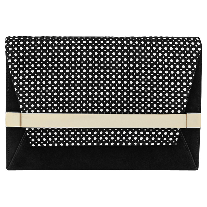 Reiss, Timo Black Perforated Clutch, £125