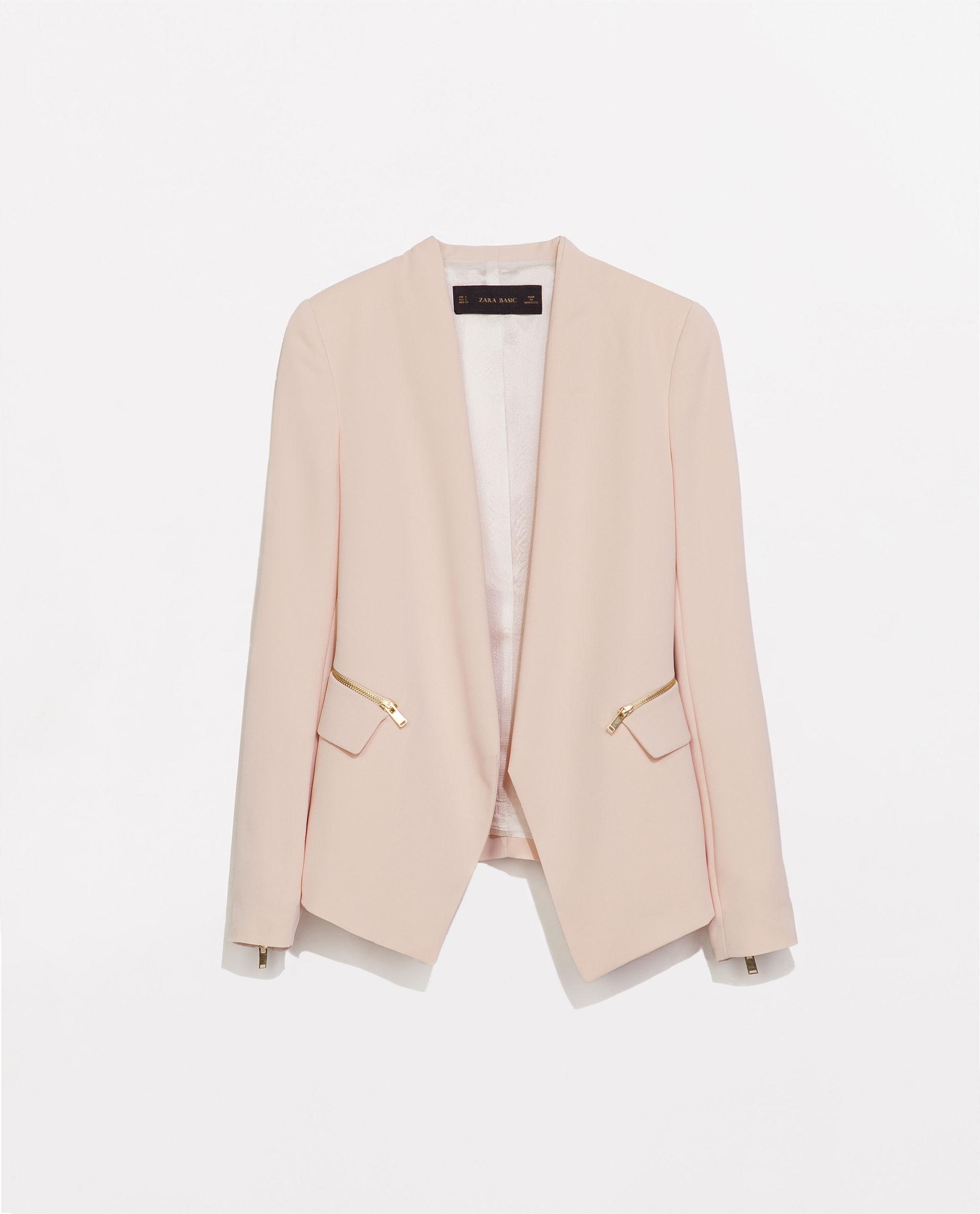 Zara, Striped Blazer with Zips, £69.99