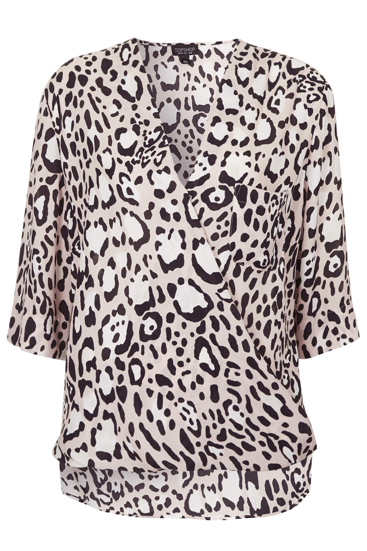 Topshop, Animal Drape Front Blouse £38
