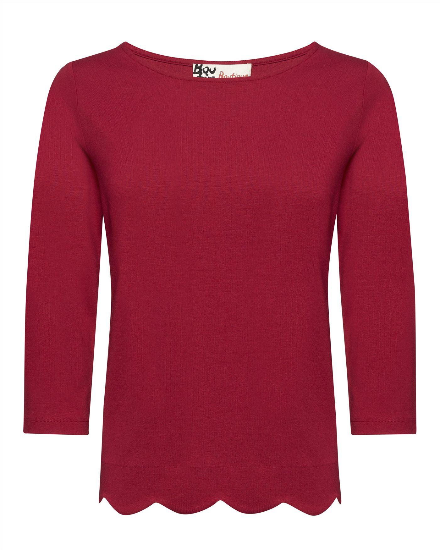 Jaegar, Jersey Scalloped Hem T-Shirt £50