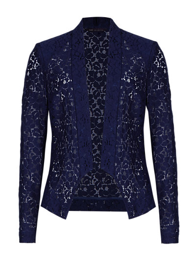 Marks and Spencer,Open Front Floral Lace Waterfall Jacket £39.50