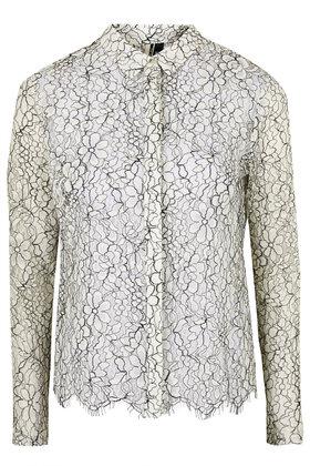 Topshop, Scallop Lace Shirt £50