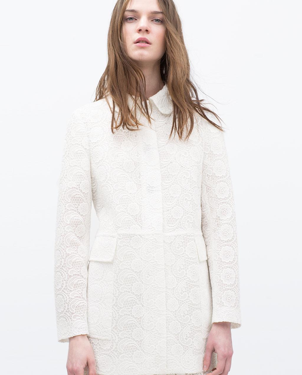 Zara, Lace Coat £99.99