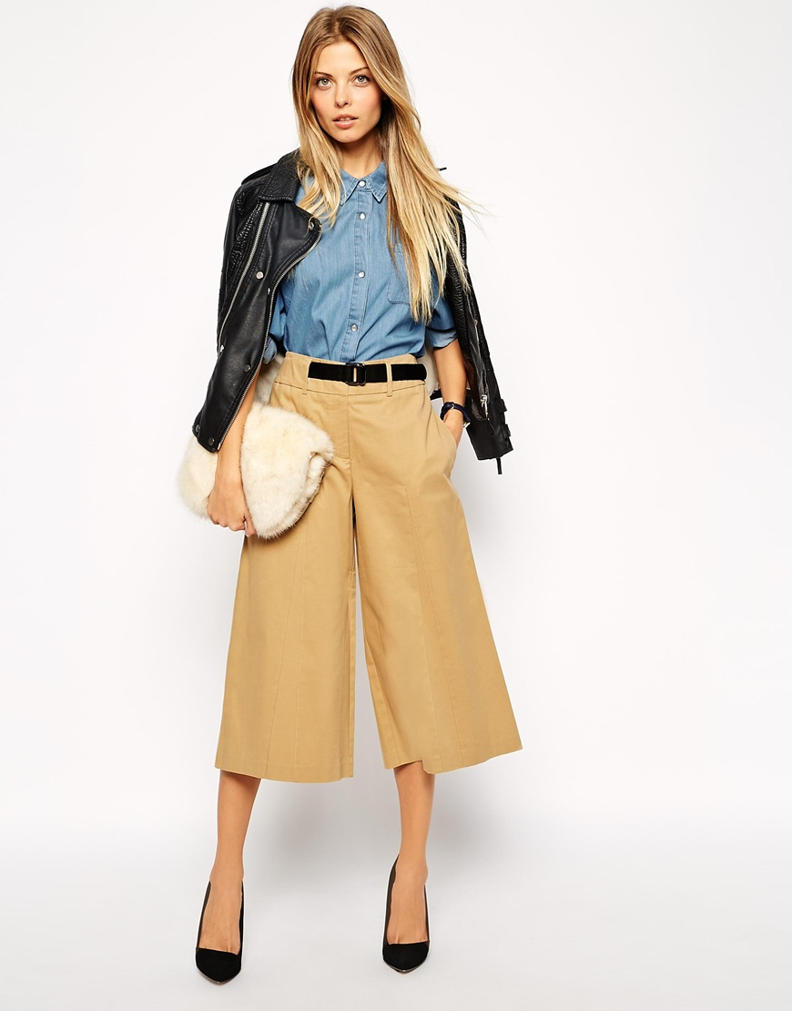 ASOS, Longline Culotte with Belt and Buckle Detail £42