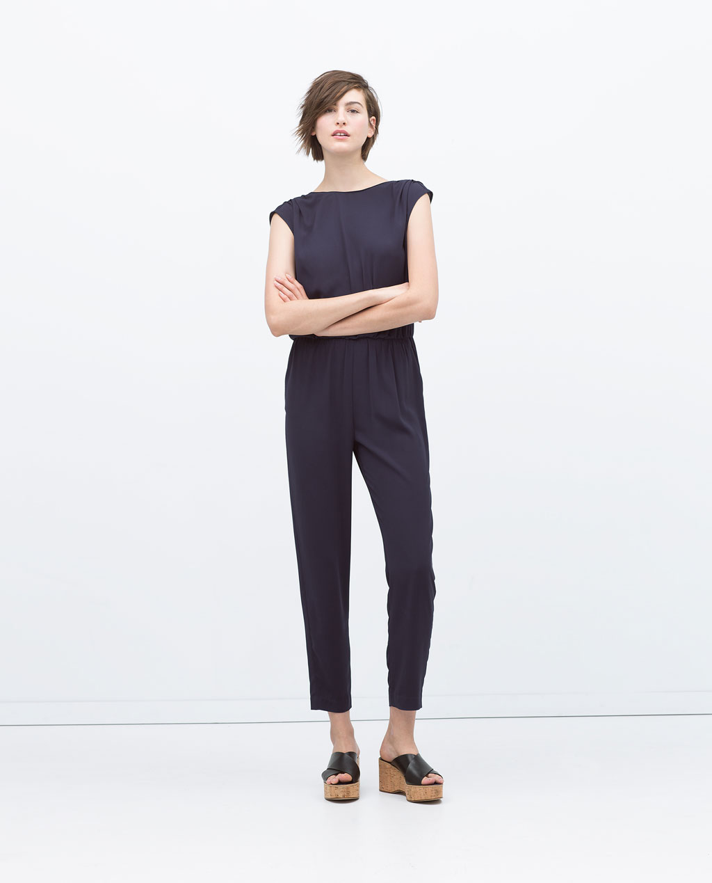 Zara, Long Jumpsuit with Gathered Back £39.99