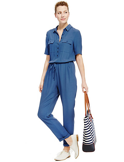 Marks and Spencer, Collared Neck Shirt Jumpsuit £49.50
