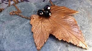 Copper Leaf Pendant, £16