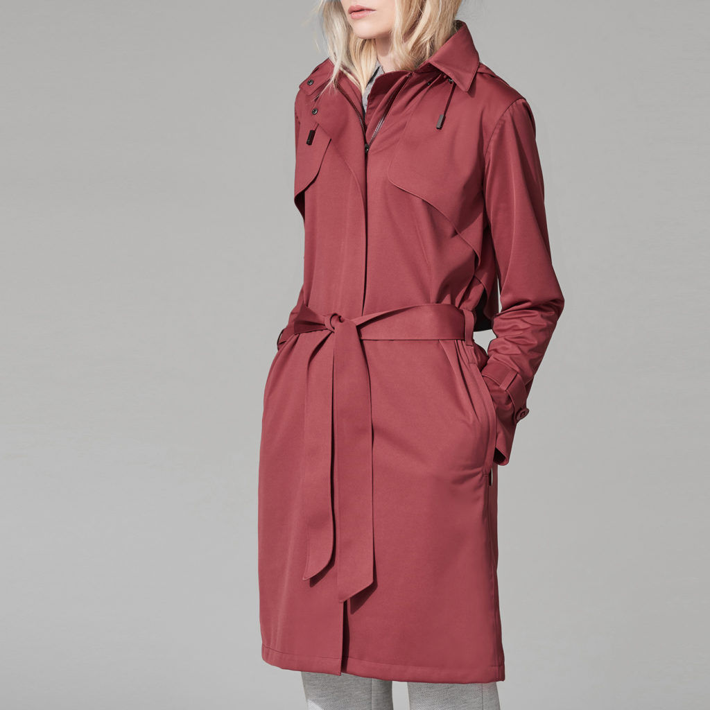 Protected Species, Waterproof Mac £225. Also available in Burgundy, Navy, Fawn, Grey and Black