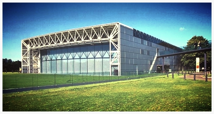 Norman Foster's first building, the 1978 Sainsbury Centre for the Visual Arts, Norwich, England