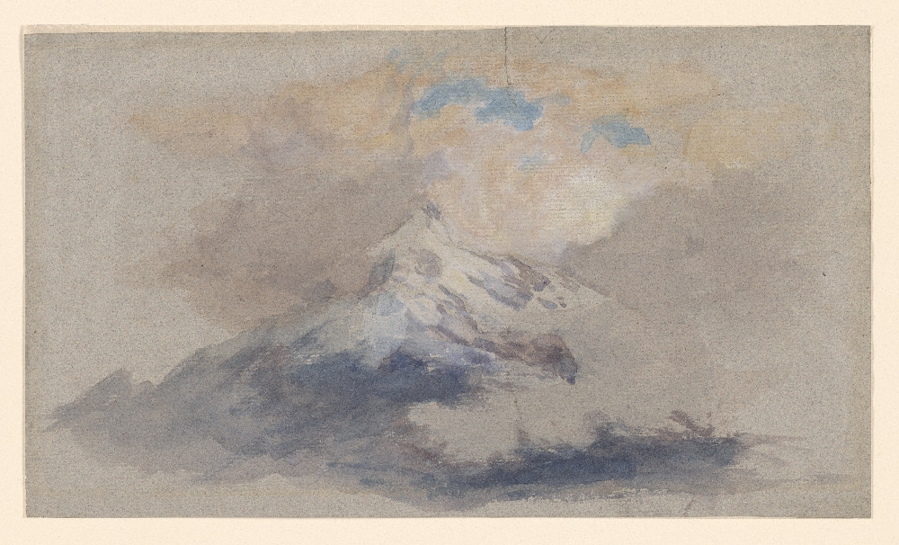 Ruskin   Mountains with Clouds  19th century 2009.277 The Joseph F. McCrindle Collection. Watercolor on laid paper.