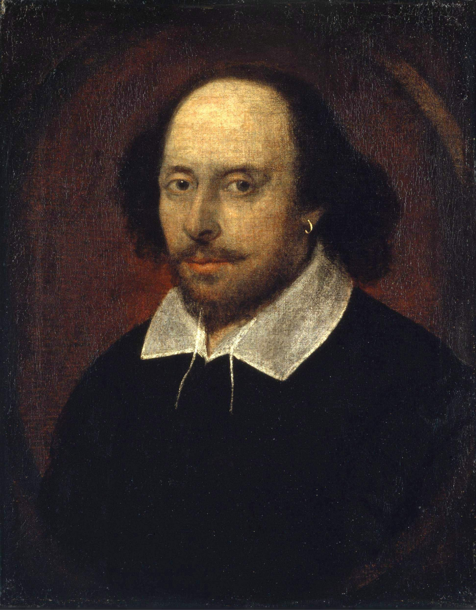 The only portrait of Shakespeare that has a good claim to have been painted from life, the famous 'Chandos' portrait, was the first acquisition of Britain's extraordinary  National Portrait Gallery