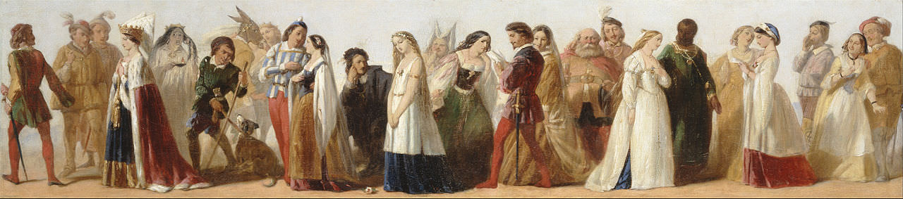 Procession of Characters from Shakespeare's Plays , by unknown artist