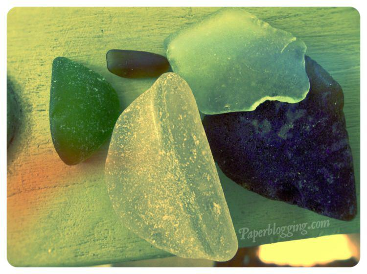 My first collection of sea glass. I love how the large white piece feels.
