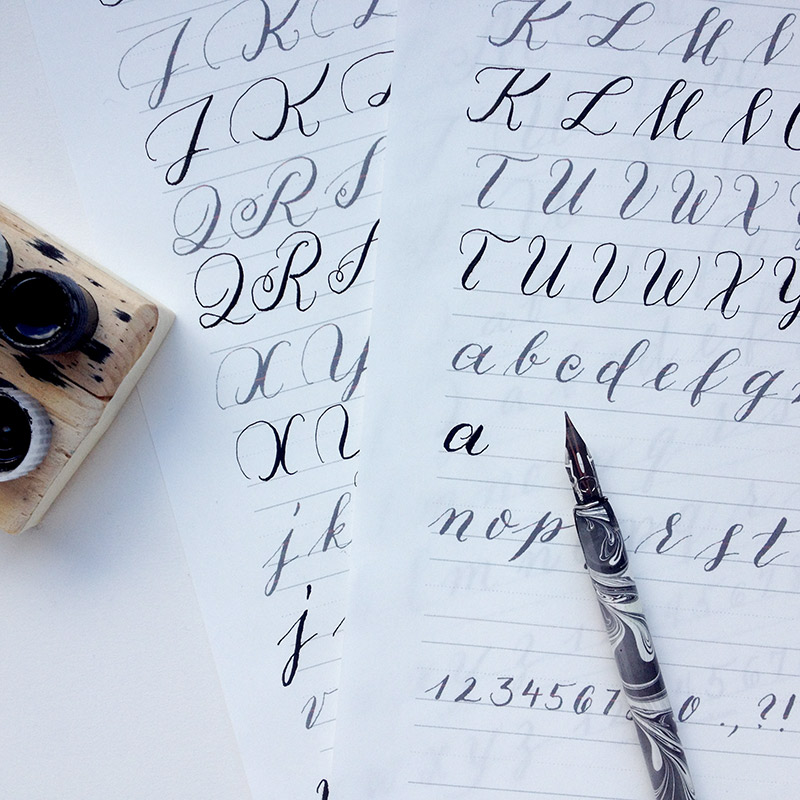 Click image for free practice sheets from calligrapher Julia Bausenhardt.