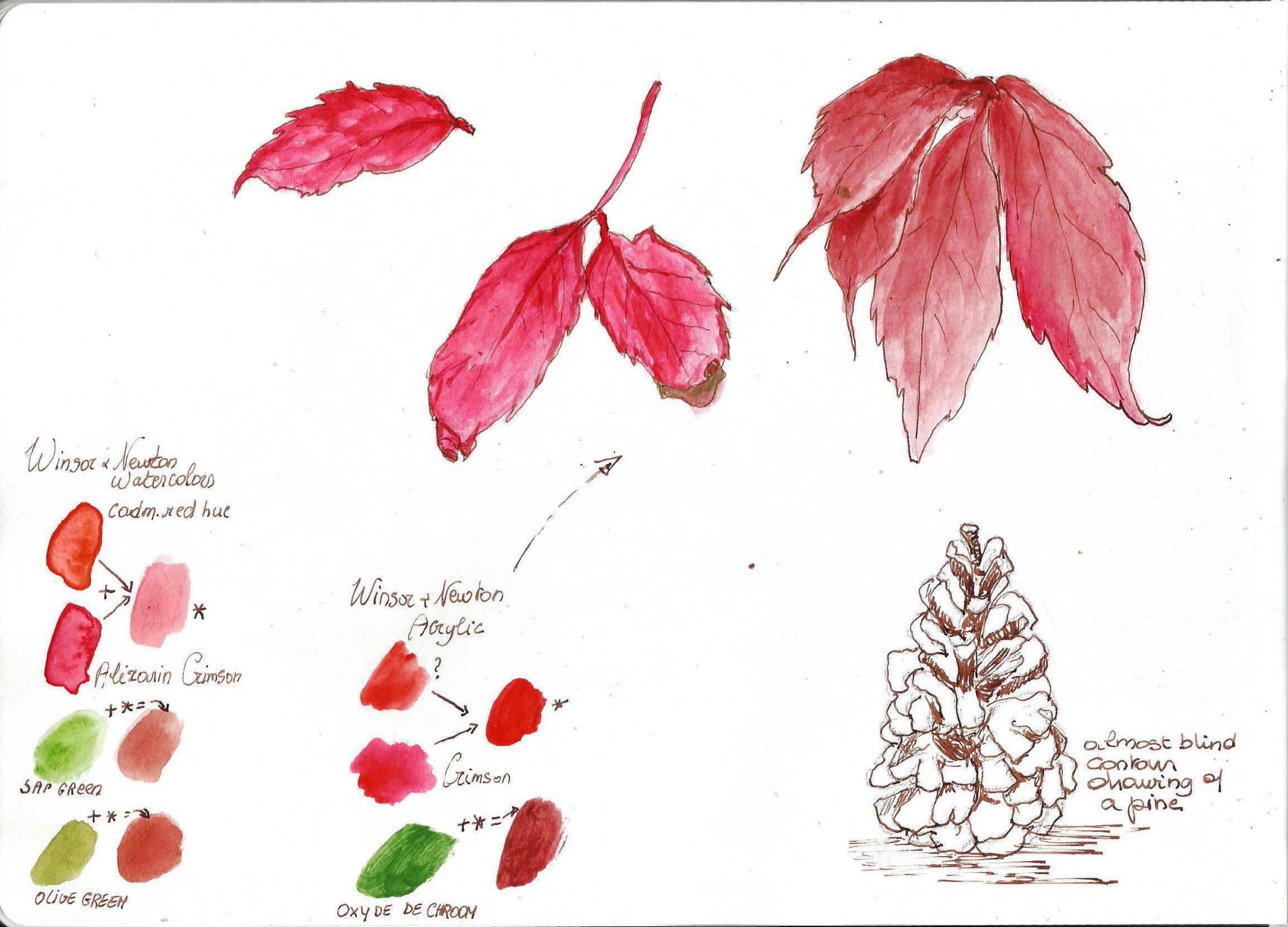 Herfstbladeren 2,  Debora Missoorten, 2017 (Click to enlarge)