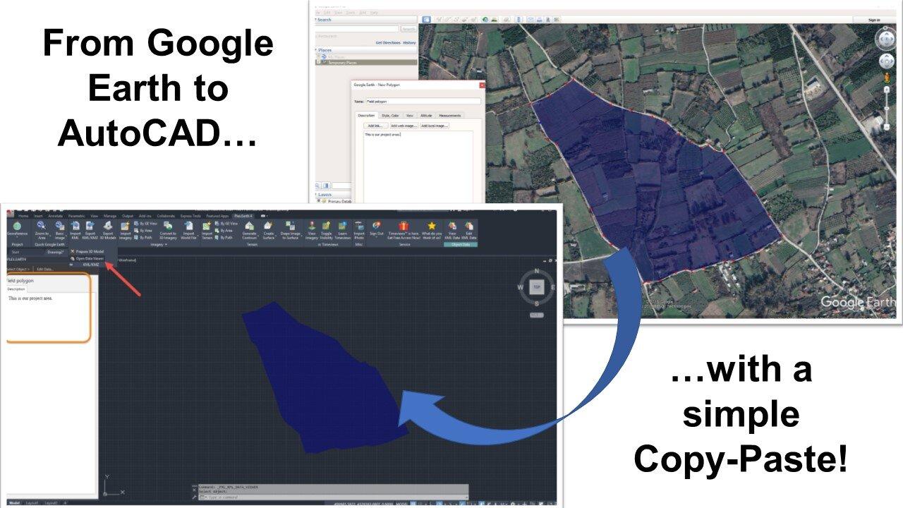 Google Earth to AutoCAD -