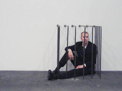 """Gianni Motti, Broker. 2005. Art36Basel """"Art Unlimited"""". Courtesy Nicola Von Senger, Zürich"""