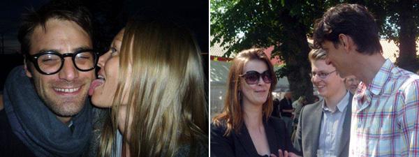 Left: Artist Paolo Chiasera and Momentum curator  Marianne Zamecznik  . Right: Momentum curators  Aura Seikkula  ,  Theodor Ringborg  , and  Christian Skovbjerg Jensen  . (All photos:  Power Ekroth  )