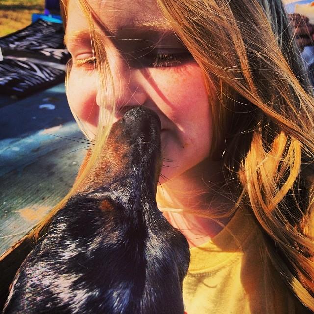 Harley kisses #thenakeddog #austin #hiking #boarding #training #atx #dogsofaustin #dogsofinstagram #dachshund–posted by thenakeddog on Instagram