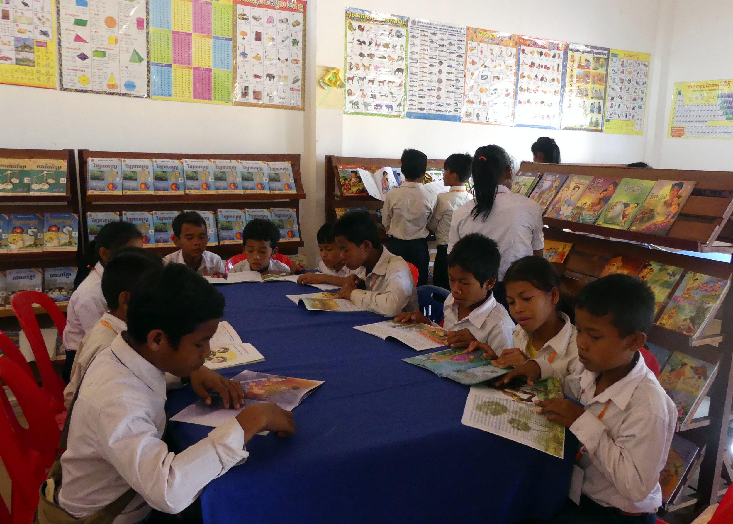 Upgraded 4 Rural School Libraries